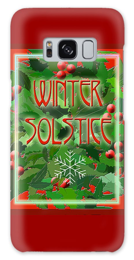 Yule Galaxy S8 Case featuring the digital art Winter Solstice by Melissa A Benson