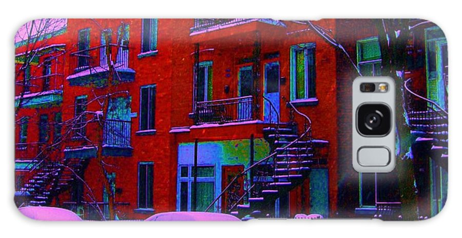 Montreal Galaxy S8 Case featuring the photograph Winter Staircases Two by Carole Spandau