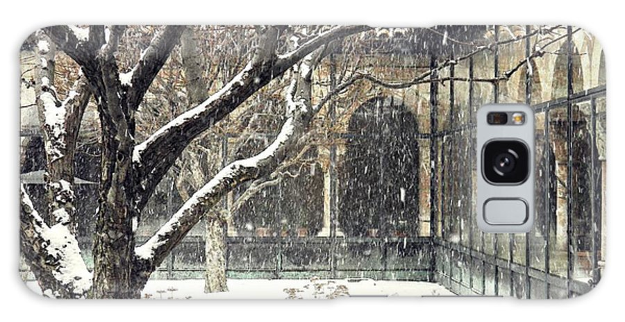 Cloisters Galaxy S8 Case featuring the photograph Winter Storm At The Cloisters 3 by Sarah Loft
