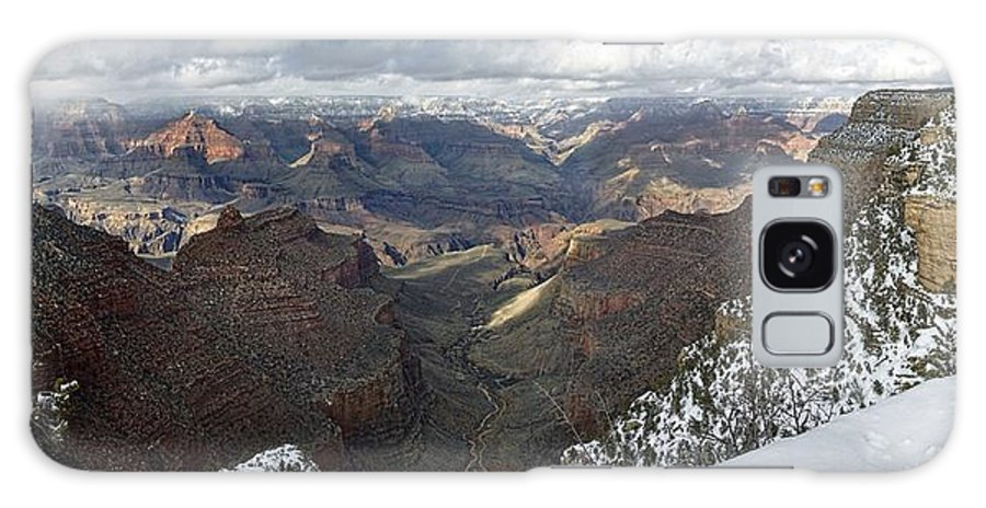 Arizona Galaxy S8 Case featuring the photograph Winter Storm At The Grand Canyon by Steve Ondrus