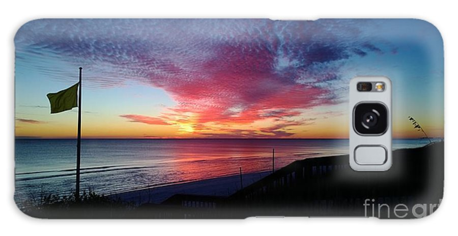 Beach Galaxy S8 Case featuring the photograph Winter Sunset by Gayle Miller