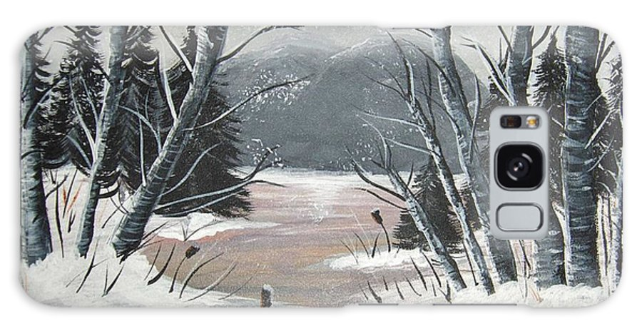 Winter Galaxy S8 Case featuring the painting Winter Thaw by Brenda Brown
