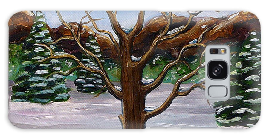 Winter Galaxy Case featuring the painting Winter Tree by Gayle Utter