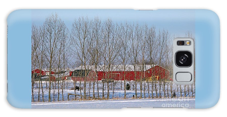Winter Galaxy S8 Case featuring the photograph Winter Tree Line by Ann Horn