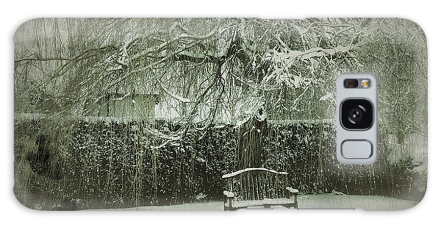 Willow Galaxy S8 Case featuring the photograph Winter Willow And Snow Covered Seat by John Colley