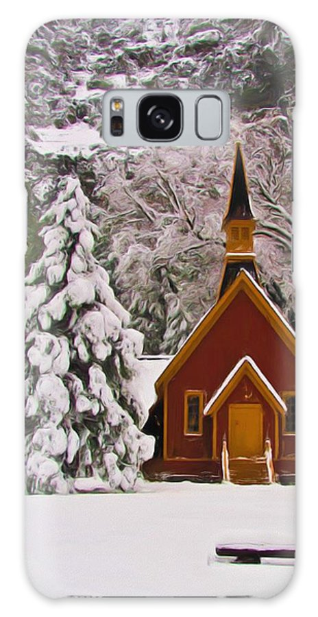 Alpine Galaxy S8 Case featuring the photograph Winter Yosemite Chapel by Heidi Smith