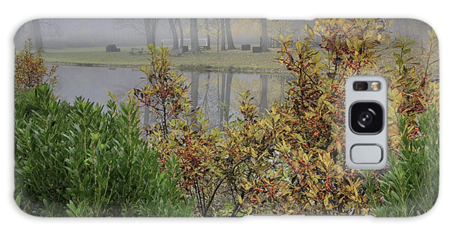 Winterberry Galaxy S8 Case featuring the photograph Winterberry In Fog by Fran Gallogly
