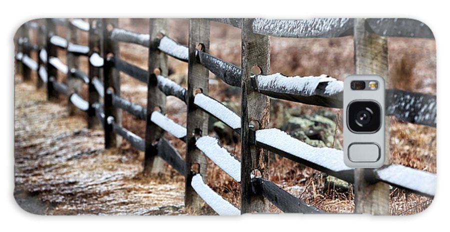 Winter's Fence Galaxy S8 Case featuring the photograph Winter's Fence by John Rizzuto