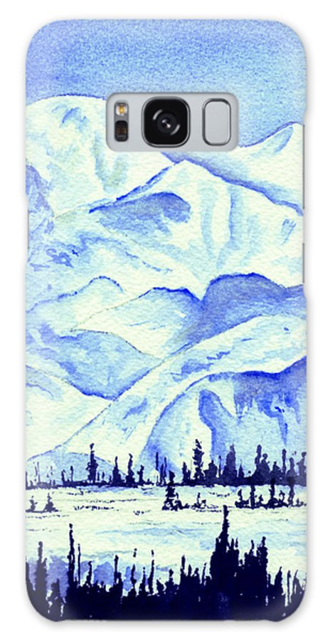 Landscape Galaxy S8 Case featuring the painting Winter's White Blanket by Brenda Owen