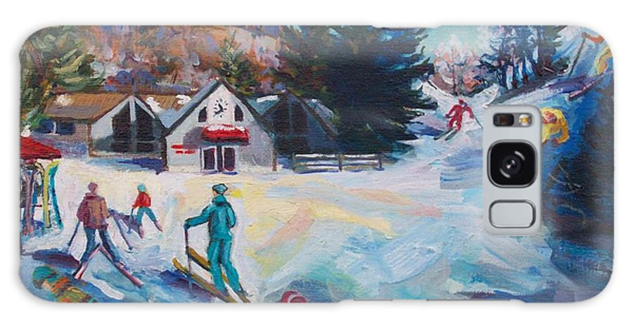 Butternut Ski Resort Galaxy S8 Case featuring the painting Wintertime Fun by Margaret Buchte