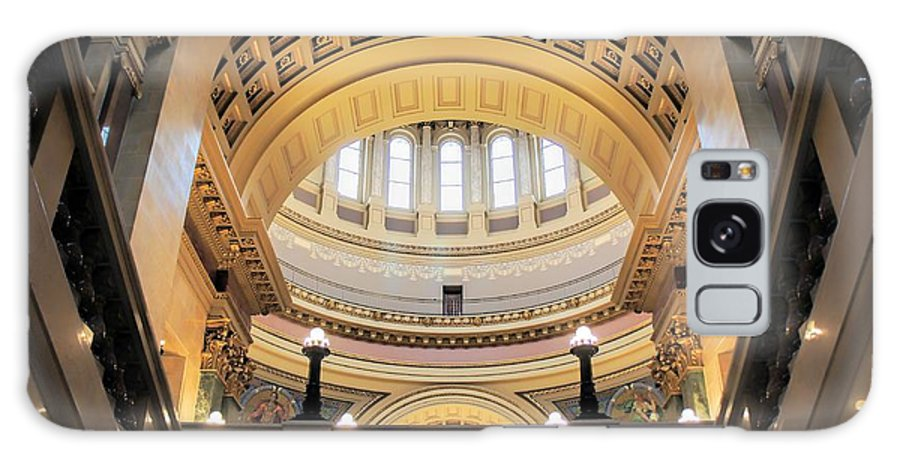Wisconsin State Capitol Galaxy S8 Case featuring the photograph Wisconsin Architecture by Jenny Hudson