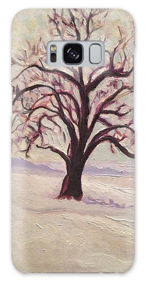 Impressionism Galaxy S8 Case featuring the painting Wisconsin Winter by Sal Settecase