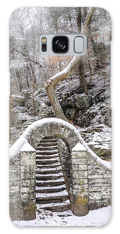 Wissahickon Galaxy S8 Case featuring the photograph Wissahickon Steps In The Snow by Bill Cannon