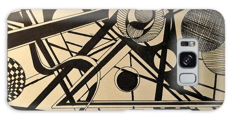 Abstract Galaxy S8 Case featuring the drawing Witchway by Denis Gloudeman