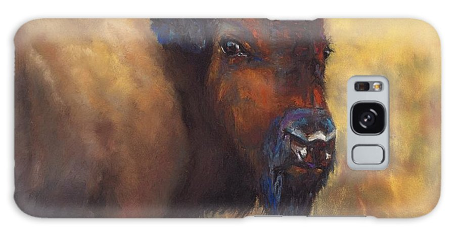 Bison Galaxy S8 Case featuring the painting With Age Comes Beauty by Frances Marino