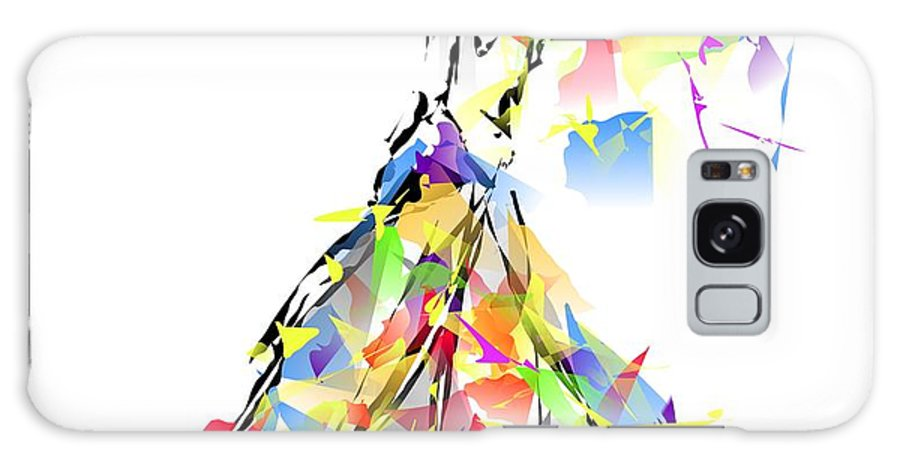 Graphics Galaxy S8 Case featuring the digital art With Umbrella 0645 Marucii by Marek Lutek