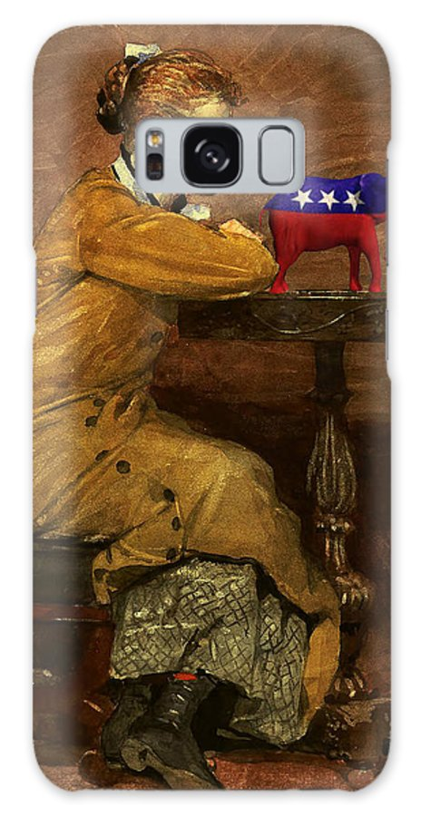 Art Error Galaxy S8 Case featuring the digital art Woman And Elephant by Winslow Homer 1836-1910 woman-and-elephant