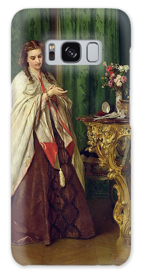 Female Galaxy S8 Case featuring the painting Woman At Her Toilet by Gustave Leonard de Jonghe