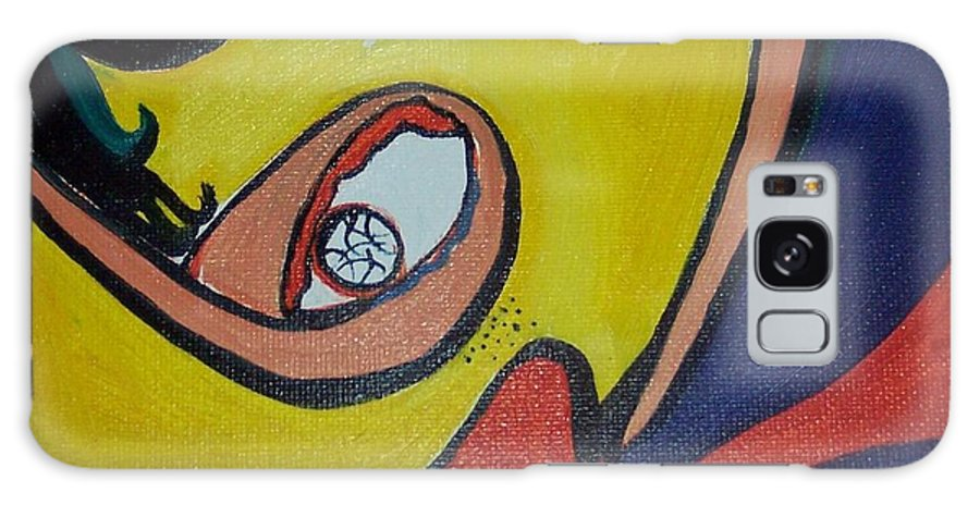 Abstract Figurative Paintings Galaxy S8 Case featuring the painting Woman20 by Seon-Jeong Kim