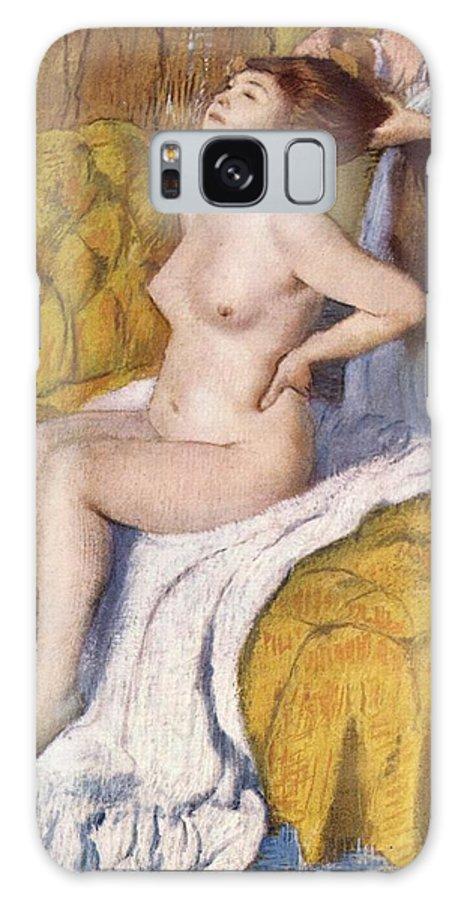 Edgar Degas Galaxy S8 Case featuring the digital art Women Having Her Hair Combed by Edgar Degas