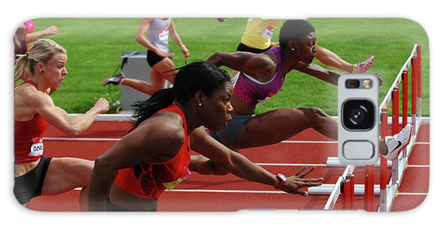 Canadian Track And Field National Championships Galaxy S8 Case featuring the photograph Womens Hurdles 3 by Bob Christopher