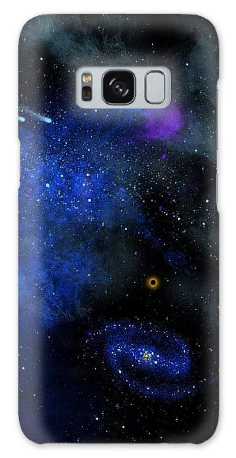 Wonders Of The Universe Mural Galaxy S8 Case featuring the painting Wonders Of The Universe Mural by Frank Wilson