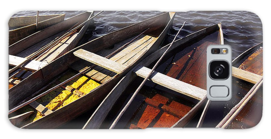 Boats Galaxy S8 Case featuring the photograph Wooden Boats by Carlos Caetano