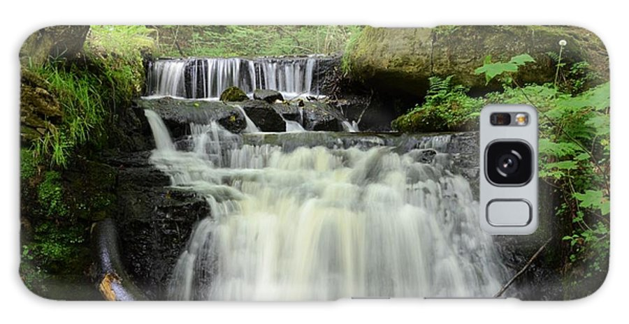 Wood Galaxy S8 Case featuring the photograph Woodland Waterfall by Malcolm Snook