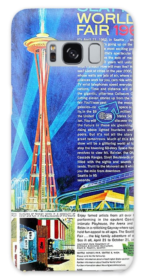 Vintage Galaxy S8 Case featuring the photograph Worlds Fair 1962 by Benjamin Yeager