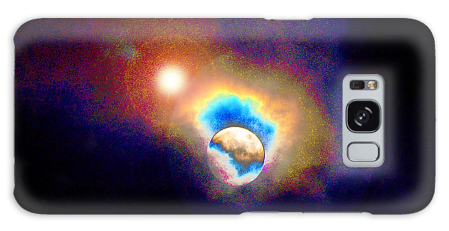 Galactic Forces Galaxy S8 Case featuring the photograph Worlds In Transition by Susanne Still