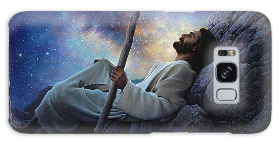 Jesus Galaxy S8 Case featuring the painting Worlds Without End by Greg Olsen
