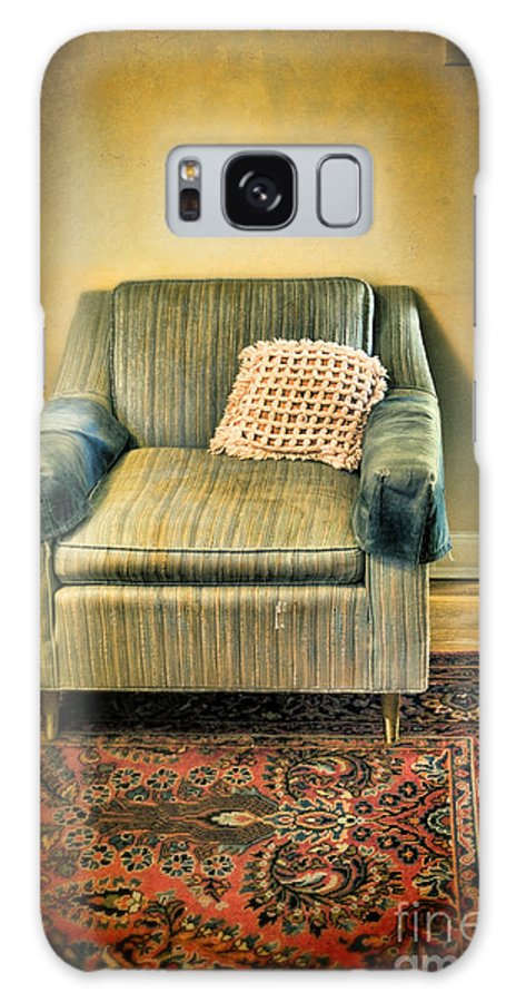 Easy Chair Galaxy S8 Case featuring the photograph Worn Chair By Doorway by Jill Battaglia