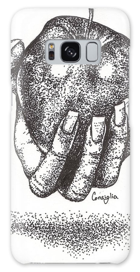 Apple Galaxy S8 Case featuring the drawing Would You Like An Apple? by Celia Fedak