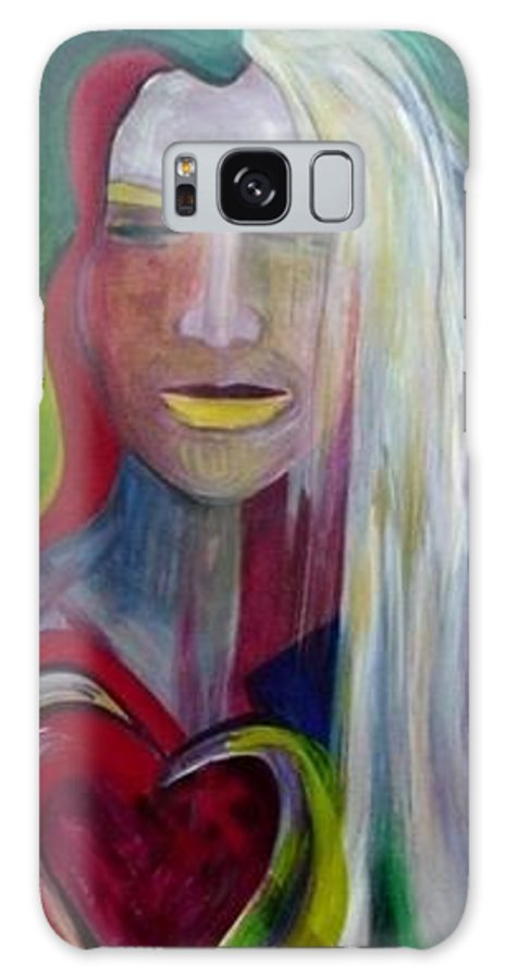 Portrait Galaxy S8 Case featuring the painting Wounded by Carolyn LeGrand