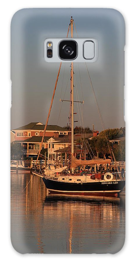 Wrightsville Beach Galaxy S8 Case featuring the photograph Wrightsville Beach Boat In Harbor by Mountains to the Sea Photo