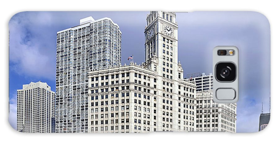 Chicago Galaxy S8 Case featuring the photograph Wrigley Building Chicago by Christine Till