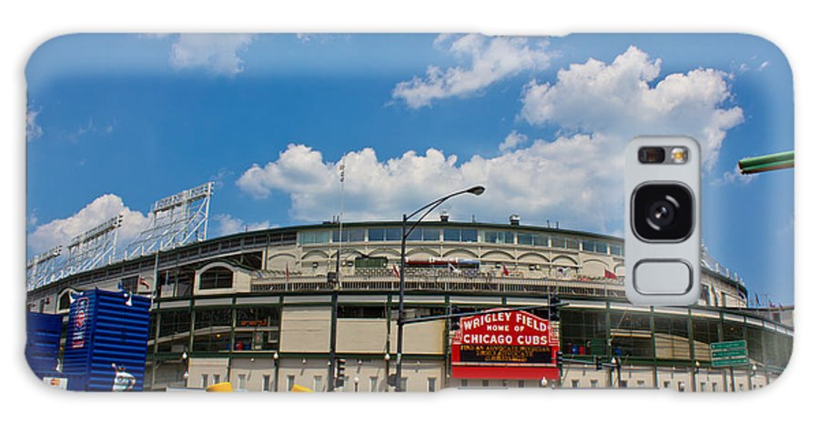 Chicago Galaxy S8 Case featuring the photograph Wrigley Field And Clouds by John McGraw