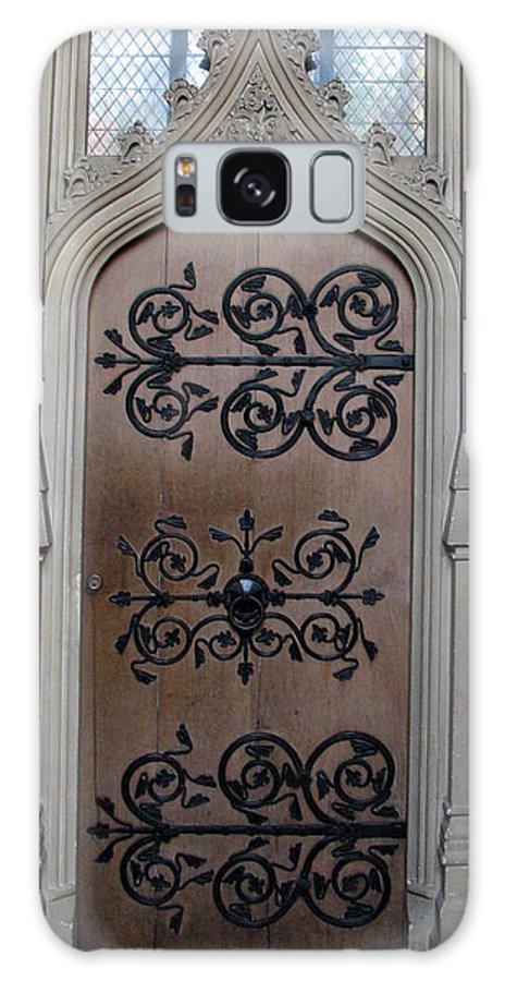 Door Galaxy S8 Case featuring the photograph Wrought-iron Door by Stephanie Grant
