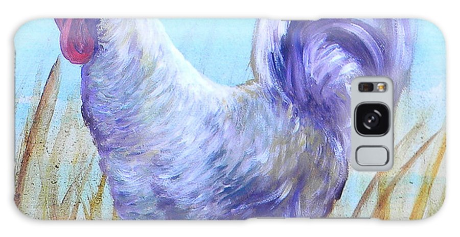 Chicken Galaxy S8 Case featuring the painting Wyandotte Rooster by Judy Bruning