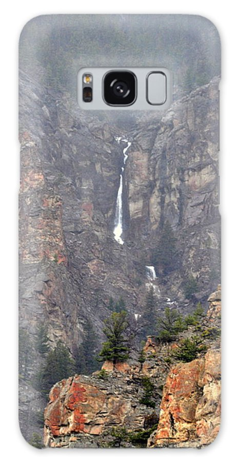 Waterfall Galaxy S8 Case featuring the photograph Wyoming Waterfall by Lisa Holland-Gillem