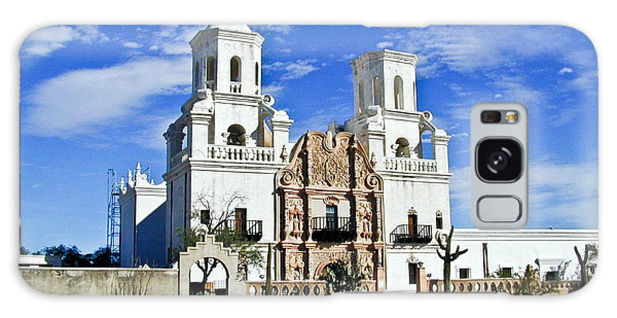 Mission San Xavier Del Bac Galaxy Case featuring the photograph Xavier Tucson Arizona by Douglas Barnett