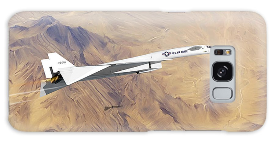 Valkyrie Galaxy Case featuring the painting XB-70 Valkyrie by Mark Karvon