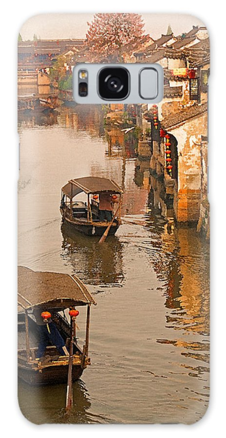 China Galaxy S8 Case featuring the photograph Xitang Canal by Dennis Cox