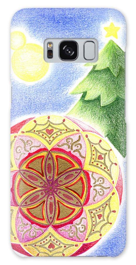 X'mas Ornament Galaxy S8 Case featuring the drawing X'mas Ornament by Keiko Katsuta