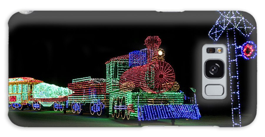 Locomotive Galaxy S8 Case featuring the photograph Xmas Tree Train by Thomas Woolworth