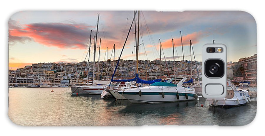 Greece Galaxy S8 Case featuring the photograph yachts in Mikrolimano marina by Milan Gonda