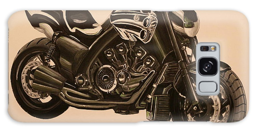 Motorcycle Galaxy S8 Case featuring the painting Yamaha V-max by Richard John Holden RA