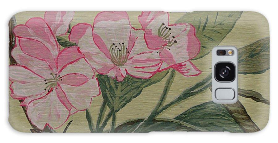 Yamazakura Galaxy S8 Case featuring the painting Yamazakura Or Cherry Blossom by Anthony Dunphy