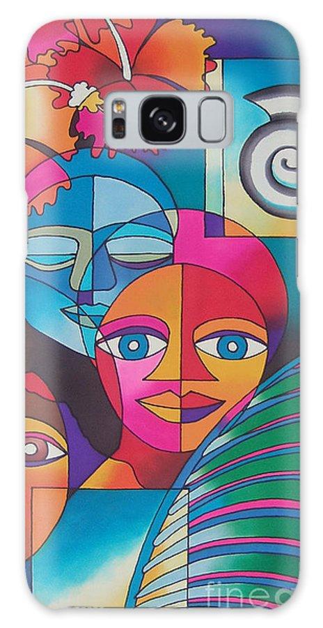 Fiji Islands Galaxy S8 Case featuring the painting Yau Ni Viti I by Maria Rova