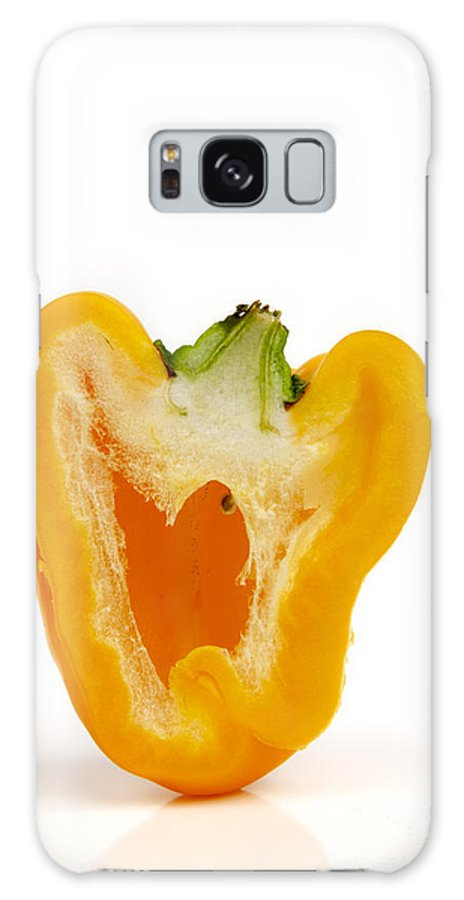 Food And Drink Galaxy S8 Case featuring the photograph Yellow Bell Pepper by Bernard Jaubert